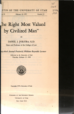 The Right Most Valued by Civilized Man