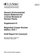 Generic EIS for Nuclear Power Plant Operating Licenses Renewal: Environmental Impact Statement