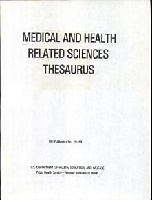 Medical and Health Related Sciences Thesaurus PDF