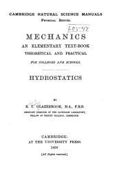 Mechanics: Hydrostatics