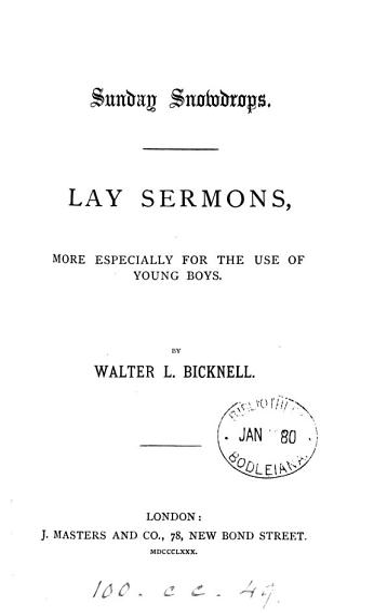 Sunday snowdrops  lay sermons PDF