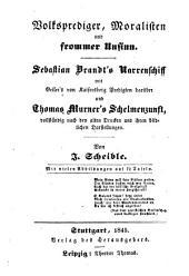 Das Kloster: Weltlich und geistlich. Meist aus der ältern deutschen volks-, wunder-, curiositäten-, und vorzugsweise komischen Literatur, Band 1