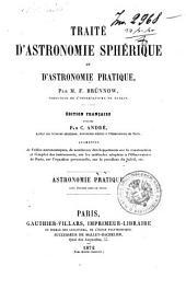 Traité d'astronomie sphérique et d'astronomie pratique