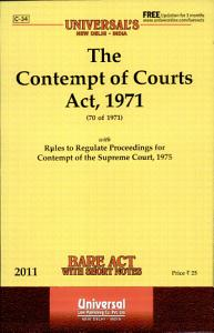 The Contempt of Courts Act, 1971