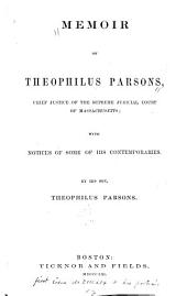Memoir of Theophilus Parsons: Chief Justice of the Supreme Judicial Court of Massachusetts