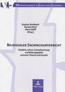 Bilingualer Sachfachunterricht PDF