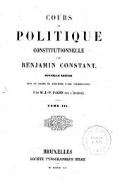 Cours de politique constitutionnelle: 3