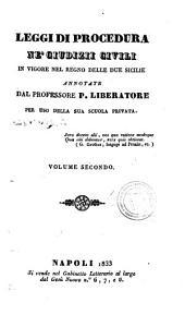 Leggi di procedura ne' giudizii civili in vigore nel Regno delle Due Sicilie: 2
