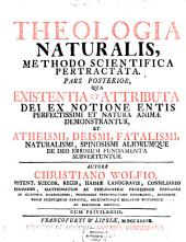 Theologia Naturalis: Methodo Scientifica Pertractata, Volume 2