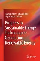 Progress in Sustainable Energy Technologies  Generating Renewable Energy PDF