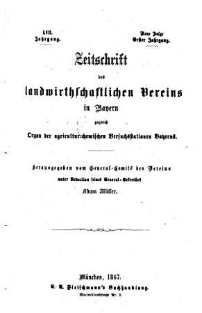 Zeitschrift des Landwirthschaftlichen Vereins in Bayern PDF