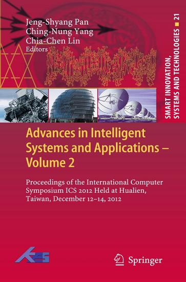 Advances in Intelligent Systems and Applications   Volume 2 PDF