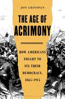 The Age of Acrimony PDF