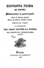 Giovanna Prima di Napoli: Melodramma in 4 parti