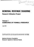 General Revenue Sharing Research Utilization Project  Summaries of formula research PDF