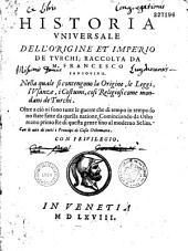 Historia universale dell'origine et imperio de'Turchi... da M. Francesco Sansovino