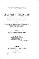 The Complete Works of Geoffrey Chaucer  The Canterbury tales  text PDF