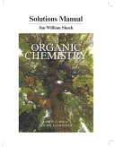 Student s Solutions Manual for Organic Chemistry Book