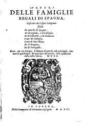 Arbori delle famiglie regali di Spagna etc. - Verona, Gieronimo Discepolo 1591