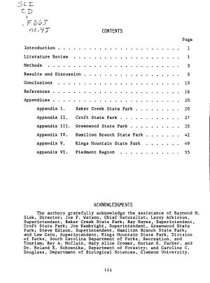 Floristic Assessment of Campsites in the Piedmont Region of South Carolina PDF