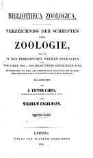 Bibliotheca zoologica  I  PDF