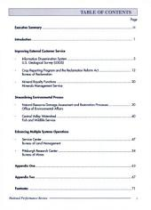 U.S. Department of the Interior labs: quality government : summary report
