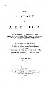 The History of America: Volume 1