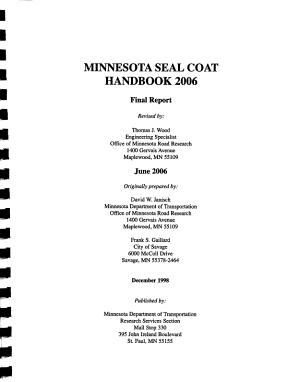 Minnesota Seal Coat Handbook 2006 PDF