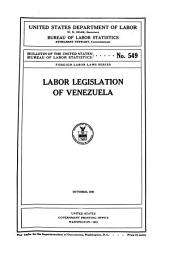 Labor Legislation of Venezuela