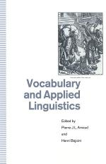Vocabulary and Applied Linguistics