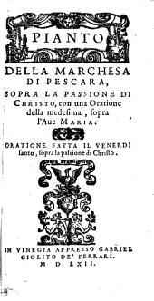 Pianto della Marchesa di Pescara sopra la Passione di Christo