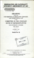 Immigration and Nationality Efficiency Amendments of 1987 PDF