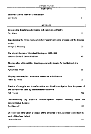 South African Theatre Journal