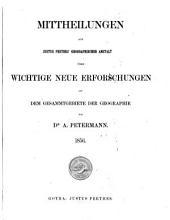 Petermanns Geographische Mitteilungen: Band 2;Band 1856