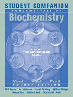 Student Companion to Accompany Fundamentals of Biochemistry  4th Edition PDF