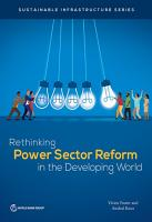 Rethinking Power Sector Reform in the Developing World PDF