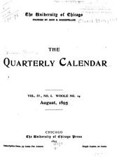Quarterly Calendar: Volume 4, Issues 14-16