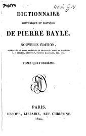 Dictionnaire historique et critique: Volume14