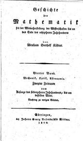 Geschichte der mathematik seit der wiederherstellung der wissenschaften bis an das ende des achtzehnten jahrhunderts