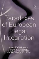 Paradoxes of European Legal Integration PDF