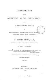 Commentaries on the constitution of the United States