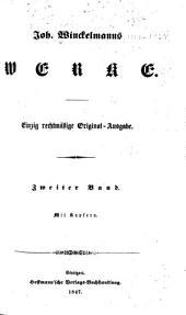 Joh. Winckelmanns werke: Band 2