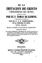 De la imitación de Cristo y menosprecio del mundo: en latín