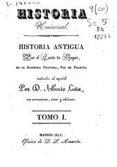Historia antigua: Volumen 1