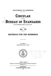 Circular of the Bureau of Standards: Issues 70-75
