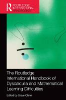 The Routledge International Handbook of Dyscalculia and Mathematical Learning Difficulties PDF