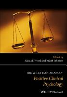 The Wiley Handbook of Positive Clinical Psychology PDF