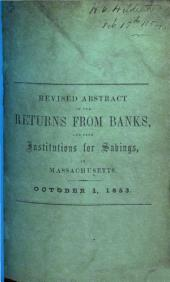 Revised Abstract exhibiting the condition of the Banks in Massachusetts on the first Saturday of October, 1853