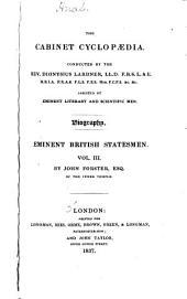 Eminent British Statesmen: John Pym, by J. Forster. John Hampden, by J. Forster