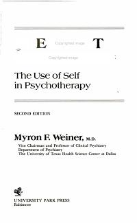 Therapist Disclosure